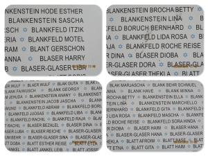 Motel, Lida, Masha and Raja - names of my grandfather's parents and sisters killed in the Riga Ghetto.