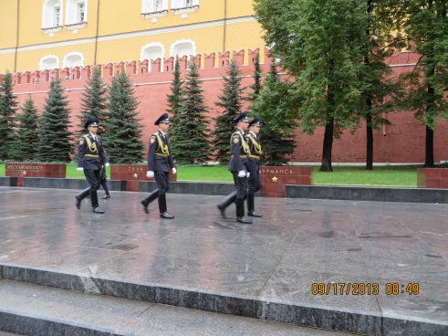 Change of guards by Tomb of Unknown Soldier.