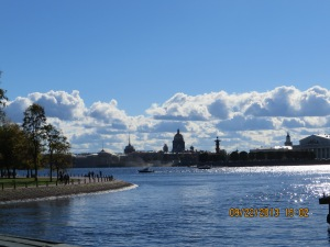 Gorgeous day in St Petersburg.