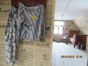 Sample of room in ghetto house -- houses 7 families (usually 35-40 people).