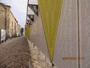 Memorial to the Jews who died in the Riga Ghetto in 1941.