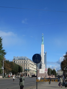 So-called Freedom Monument where neo-Nazis annually commemorate SS divisions in Latvia.