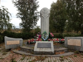 A memorial for the Jews murdered in the Pinsk ghetto.