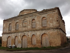 Remains of the Great White Synagogue in Stolin.