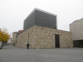 The modern Munich synagogue is almost a fortress. No peeks inside allowed.