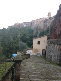 Pitigliano: a surreal Tuscan town carved into valleys.